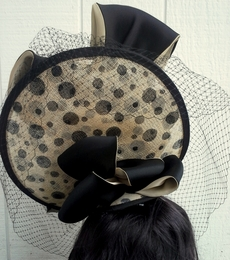 Christine A. Moore's Meesha Black & Tan Fascinator