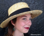 Classic Women's Straw Boater