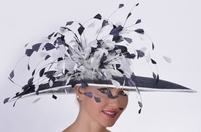Del Mar Feather Frenzy Race Hat