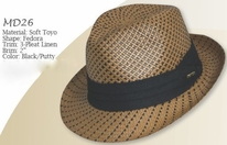 Dorfman-Pacific Toyo Hat, Two Tone