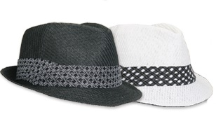 TWO-TONE WHITE AND BLACK FEDORA