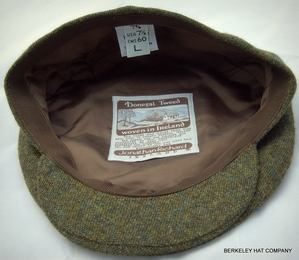 Fine Weave Donegal Driving Cap II Olive Green (IR43)