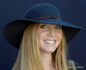 Floppy Knit Sunhat with Leather Band