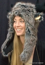 Furry Moose Hat with Plush Stuffed Antlers