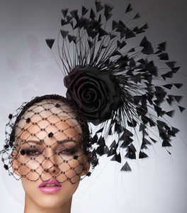 Georgia, Black Fascinator by Arturo Rios
