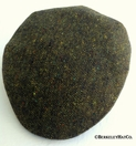 Irish Green Donegal Tweed Ivy Cap (IR86)