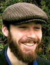 HARRIS TWEED IVY FLAT CAP,  BROWN HOUNDSTOOTH  (IR13)