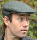 Irish Cap green herringbone  (IR31)