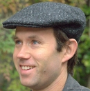 Irish Heavy Wool Herringbone Ivy  Flat Cap, Gray  (IR45)