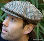 Irish Motoring Cabby Cap Houndstooth  (IR55)