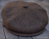 Irish Newsboy Cap, Brown Wool Tweed   (IR74)