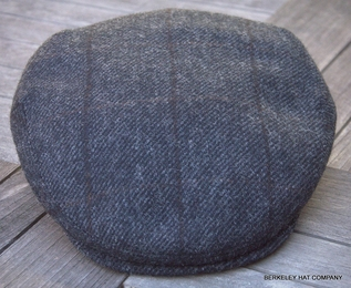 Irish Wool Grey Driving Flat Cap  (IR78)