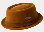 Kangol Lite Felt Pork Pie Hat<br> in Terra Cotta Rust