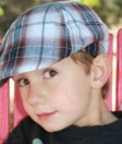 Kid's Scoop Cap, Plaid