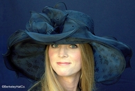 Romantic Lace and Organza Derby Hat