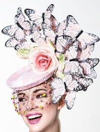 Lucy, Butterfly Fascinator by Arturo Rios