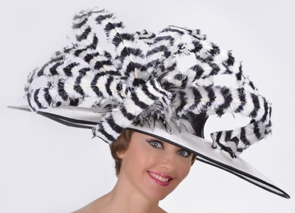 Madison Avenue Kentucky Derby Feather Hat