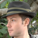 Men's Packable Felt Fedora Hat