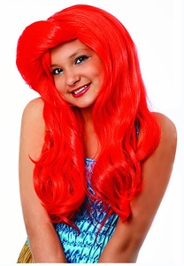 Mermaid Wig in Red