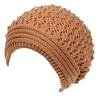 Oversized Double-Layered Knit Slouchy Beanie
