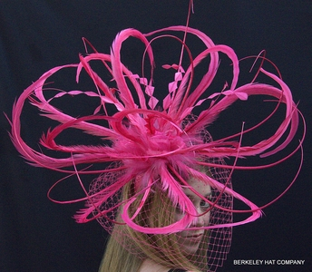 Pink Feather Winner's Circle Fascinator Hat