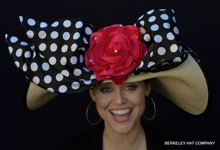 Polka Dot Pin-Up Derby Hat