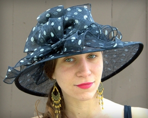 Sinamay Straw Picture Hat