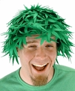 Pot Head Green Felt Wig