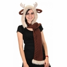 Reindeer Knit Hooded Scarf by Elope