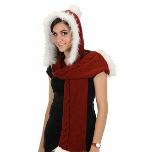 Santa Knit Hooded Scarf by Elope