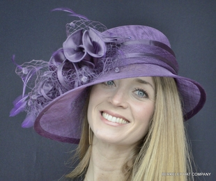 Satin Ruffle Sinamay Hat for the Kentucky Derby