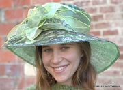Green Silver-Black Sequined Hat for the Kentucky Derby