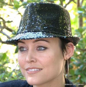 Sequined Womens Fedora Hat