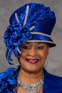 Sophisticated Royal Blue Church Hat Scruples Originals by Eve Andrea