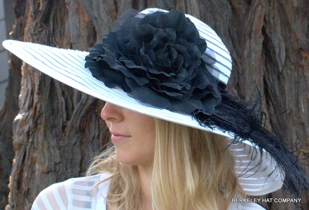 Spectator Rose and Ostrich Feather Hat