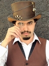 Steampunk Leather Top Hat, Trinkets