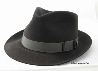 Stetson Lowell Fur Felt Fedora in Graphite