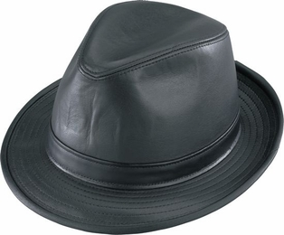 STINGY BRIM LEATHER FEDORA