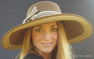 Striped Women's Sun Hat