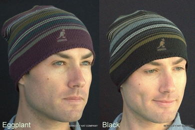 Twisted Stripe Pull-On Knit Beanie by Kangol
