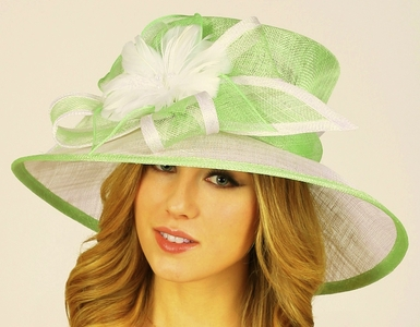 Two-Tone Bridesmaids Hat
