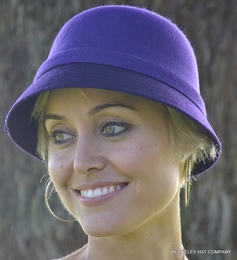 Two-Tone Wool Blend Womens Cloche