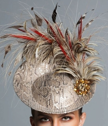 Vivian, Disc Fascinator Hat by Arturo Rios