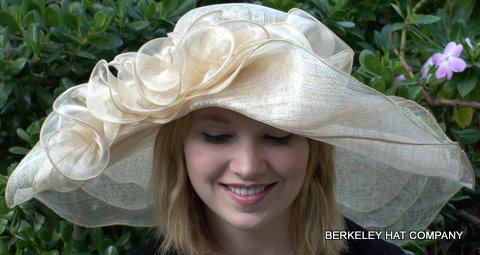 Wide Brim Sinamay off-the-face Hat for the Kentucky Derby