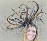 Winner's Circle Pheasant Feather Fascinator Hat