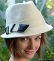 Woman's Felt Fedora Offset