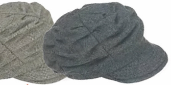 Woman's Pleated Tweed Cap