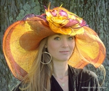 Orange Dynamic MultiColored Hat for the Kentucky Derby