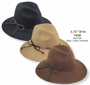 Women's Fedora with Fashion Band, Wool Felt