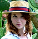 Women's Straw Boater Hat